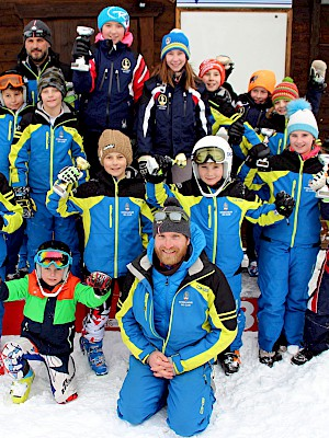 Fünf Alpin-Kinder am Podium -