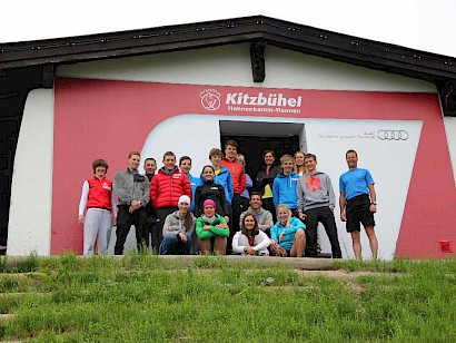 Trainingsgruppe am Hahnenkamm